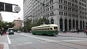 Trollies Photos - San Francisco Vintage Streetcar on Market Street - 5D17862 by Wingsdomain Art and Photography