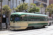 Trollies Photos - San Francisco Vintage Streetcar on Market Street - 5D17972 by Wingsdomain Art and Photography