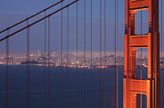 Headlands Photos - San Francisco Visible Through The Golden Gate Brid by Stephan Hoerold