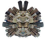 San Francisco World - Stereographic Print by Cedric Darrigrand