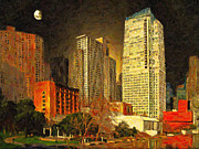 Sf Prints - San Francisco Yerba Buena Garden Print by Wingsdomain Art and Photography