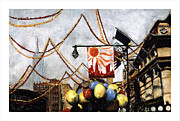 Nyc Pastels Metal Prints - San Gennaro Metal Print by Barry Rothstein