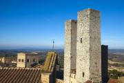 Italian Cypress Photo Posters - San Gimignano Poster by Andre Goncalves