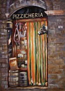 Wild Boar Paintings - San Gimignano by Barbara Sutton