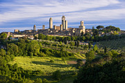 Medieval City Framed Prints - San Gimignano Framed Print by Brian Jannsen