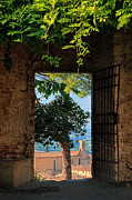 Italian Landscapes Prints - San Gimignano door Print by Inge Johnsson