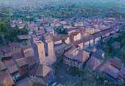 Toscana Paintings - San Gimignano by Marco Busoni