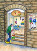 Toy Store Painting Prints - San Gimignano Print by Pamela Allegretto