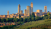 Architecture Prints - San Gimignano Skyline Print by Inge Johnsson