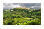 Hill Town Art - San Gimignano Tuscany Italy by Carl Amoth