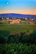 Italian Landscapes Prints - San Gimignano Vineyards Print by Inge Johnsson