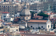 Rooftop Framed Prints - San Gioacchino in Prati Framed Print by Andy Smy