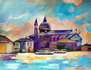 Venice Mixed Media Originals - San Giorgio by Filip Mihail