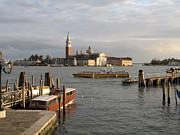Touristes Photo Posters - San Giorgio Maggiore Poster by Bernard Jaubert
