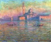 Canals Painting Framed Prints - San Giorgio Maggiore Venice Framed Print by Claude Monet