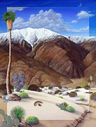 Desert Landscape Paintings - San Jacinto  by Snake Jagger