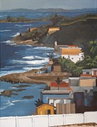 Puerto Rico Paintings - San Juan by Alexander Buck