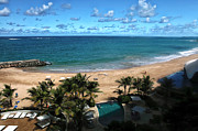 Puerto Rico Photo Prints - San Juan Beach View Print by John Rizzuto
