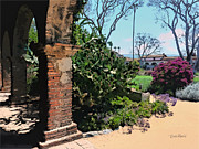 Landscape Paintings - San Juan Capistrano Mission by Russ Harris