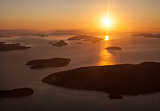 Vancouver Island Prints - San Juan Islands Sunset Evening Print by Mike Reid
