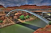 San Juan River Framed Prints - San Juan River Bridge Framed Print by William Wetmore