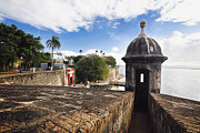 Puerto Rico Framed Prints - San Juan Sentry Post  Framed Print by George Oze