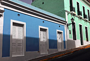 Puerto Rico Art - San Juan Street Colors by John Rizzuto