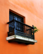 Weathered Shutters Framed Prints - San Juan Window Framed Print by Perry Webster