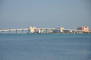 Florida Bridge Digital Art - San Key Bridge Clearwater Beach by Bill Cannon