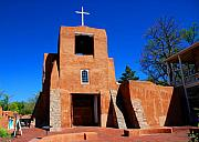 Adobe Architecture Prints - San Miguel Chapel in Santa Fe Print by Susanne Van Hulst