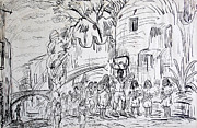 Baskets Drawings - San Miguel de Allende by Bill Joseph  Markowski