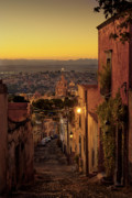 San Miguel De Allende Framed Prints - San Miguel de Allende Sunset Framed Print by Dusty Demerson