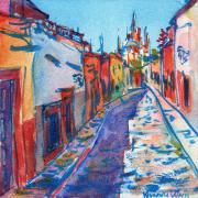 Streetscape Paintings - San Miguel de Allende by Yevgenia Watts
