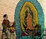 Folk Art Photos - San Miguel Street Shrine by Olden Mexico