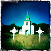 Crosses Photos - San Patricio Church III by Matt Suess