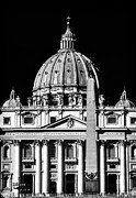 Catholic Artist Framed Prints - San Pietro Framed Print by John Rizzuto