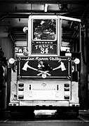 Drawn Prints - San Ramon Valley Fire Truck 34 San Ramon CA Print by Troy Montemayor