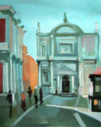 Buildings Mixed Media Originals - San Rocco by Filip Mihail