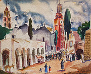 Mexico People Paintings - San Tuario de Atotonoleco by Bill Joseph  Markowski