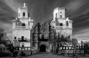 Iconic Structures Prints - San Xavier del Bac Mission Print by Sandra Bronstein