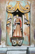 Indian Pastels Prints - San Xavier Statue Print by M Diane Bonaparte