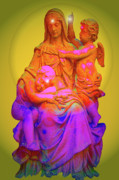 Marian Apparition Posters - Sancta Maria No. 02 Poster by Ramon Labusch