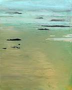 Waters Edge Posters - Sand and Sea Poster by Ethel Vrana