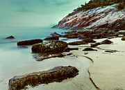 Ethereal Water Prints - Sand Beach-Acadia National Park Print by Thomas Schoeller