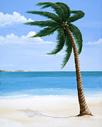 Bahamas Landscape Paintings - Sand Between My Toes. by Stephanie Conroy