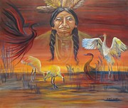 Headdress Originals - Sand Crane Dreams by Carol Allen Anfinsen