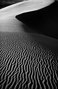 Cross Country Framed Prints - Sand creation - black and white Framed Print by Hideaki Sakurai