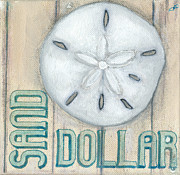 Beach Shell Sand Sea Ocean Art - Sand Dollar by Debbie Brown