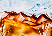 Sand Dunes Paintings - Sand dune hills painting by Simon Bratt Photography