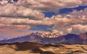 Striking Photography Prints - Sand Dunes - Mountains - Snow- Clouds and Shadows Print by James Bo Insogna